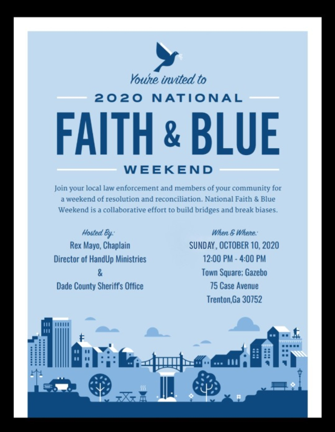 Faith & Blue Event to be Held this Weekend