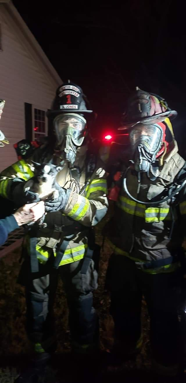 Family Dog Saved by Trenton-Dade Firefighters